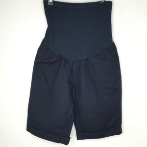 A Pea in the Pod Maternity Shorts Navy Blue Small
